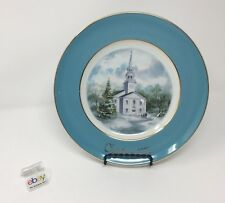 Avon 1974 Christmas Church Collector's Plate - Second Edition - Country Church