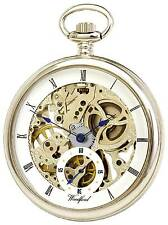 Woodford Chrome Plated Mechanical Skeleton hand Wind Pocket Watch. ref 1043