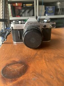 Canon AE-1 SLR Film Camera - Black TESTED!!! With Custom Carry Bag