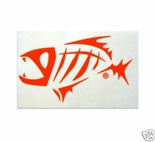 G. LOOMIS NEON RED SKELETON FISH STICKER