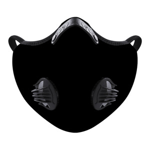 Black Mesh Face Mask Covering for Exercise Sports Cycling One Size With Valves