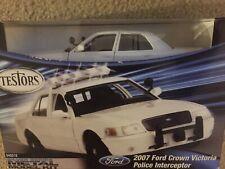 Testors 2007 Ford Crown Victoria Police Interceptor (1/24) 640015 Silver Series