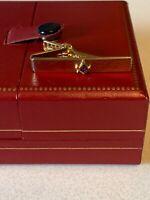 Vintage Mason Tie Clip Freemason Gold Tone Signed