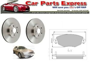 FORD MONDEO FRONT DISCS AND PADS SET MK3 2000 - 2007 ALL MODELS