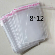 "100 Pcs 8cmx12cm Self Adhesive Plastic Bag Clear Jewelry Packaging 3.1""x4.7"""