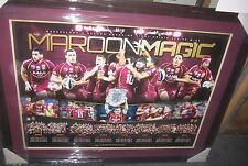 Cameron Smith (Captain) signed Queensland State of Origin - 7 in a row - framed