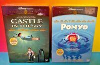 NEW Ponyp + Castle in the Sky (2)  DVD Movie set Lot Studio GHIBLI DISNEY Rare