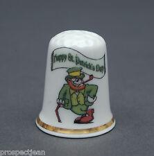 Happy St.Patricks Day Cartoon Fun Exclusive  China Thimble B/128