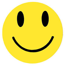 Smiley Face Sticker - 75mm Rave Prodigy Pendulum House Music Hippy 80s Retro