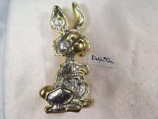New Listing Designer Dolphin Ore Vintage Animals Bunny Rabbitt Pin Brooch #Db-1899Up