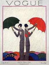 Vogue magazine cover NY Fashions Umbrella May 1924 art poster print SKU2619