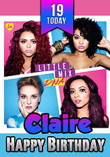Personalised Little Mix Birthday Greeting Card A5