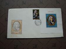 ROUMANIE enveloppe 1973 -Timbre Yvert et Tellier n°2798 bloc 107 (cy2)