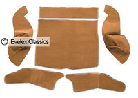 MGB GT BOOT CARPET SET LIGHT BROWN CARRELLI & HESSIAN BACKING FROM 1966 TO 1980