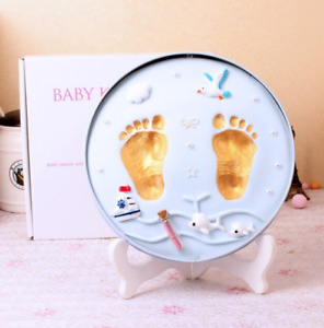 Baby Hand Print Footprint Imprint Kit in round bxox
