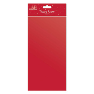 Red Tissue Papers For Gift Wrappings Hampers Arts Flower Crafts Party Fillers
