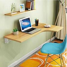 Corner Folding Computer Table - Wall Mounted Wooden Drop-leaf Desk - NEW