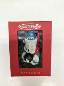 1999 Daytons Hudson Santa Bear Ornament Wizard 8 ball