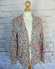 """TOPSHOP fluffy cardigan 10 bust 42"""" multicoloured blogger snuggly cosy oversized"""