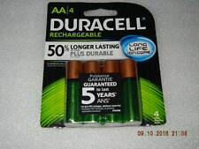 (4) Duracell AA Rechargeable Batteries, NEW