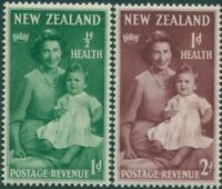 New Zealand 1950 SG701-702 Health QEII and baby Charles set MNH