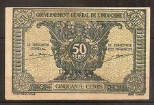 Billet 50 Cents Gouvernement Général de l'Indochine. N.D. (1942) TTB