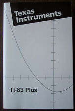 TI-83 Plus Graphing Calculator Guidebook Manual.  Manual ONLY.  Excellent Cond