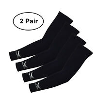 Salmans Compression Arm Sleeves (2 Pairs) - Designed for Pro Athletes