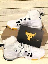 UA Project Rock 1 'White Gold' Training Shoes 3020788-108 Men's Size 8.5 NWB