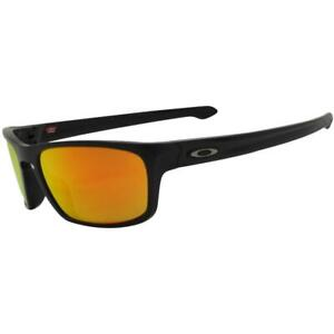 Oakley OO 9408-06 56 Polarized Sliver Stealth Matte Black Prizm Ruby Sunglasses