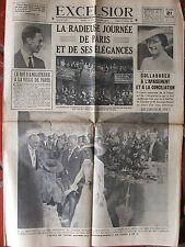 L'Excelsior (21/7/1938) Voyage royal à Paris