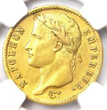 1811-A France Napoleon Gold 20 Francs Coin G20F - Certified NGC AU50 - Rare!