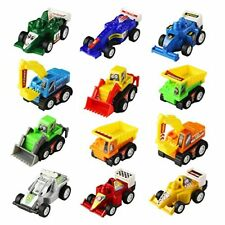 Toy Cars Mini Pull Back Vehicle Toys Egg Fillers Assorted Race Construction Play
