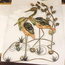 metal Wall Art Hanging Plaque sculpture quality decorative Bird Storks