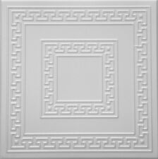 Styrofoam Ceiling Tile DIY Glue over popcorn. 32 Decorative tiles~85 sq.ft #R-21