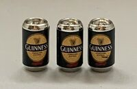 Dolls House Miniature 1/12th Scale Set of 3 Guinness Beer Stout Cans SK105