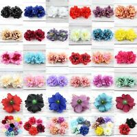 8/15P Artificial Silk Fake Peony Flowers Floral Heads Wedding Bouquet Home Decor