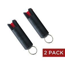 2 PACK Guard Dog Pepper Spray 1/2 Ounce 18% OC Pepper Spray Keychain (Black)