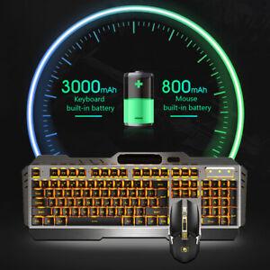 LED Gaming Tastatur Keyboard Maus Set Gamer Wireless/Wired für PS4 Pro PC Laptop