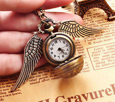 New Pendant Necklace Steampunk Quidditch Wings Harry Potter Snitch Pocket Watch