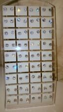Joblot of 36 Pairs 5 mm Cubic Zirconia clear Round stud Earrings wholesale