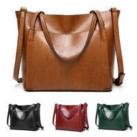 US Women Leather Handbag Lady Shoulder Bag Crossbody Tote Shopper Satchel Large