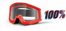 100% MASCHERA OCCHIALE STRATA 3D ROSSO RED MOTO CROSS ENDURO MTB DOWNHILL