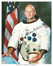 Signed Astronaut Charles G Fullerton Photo & Apollo 8 Photo of Earth Autograph
