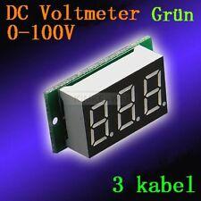 DC 0-100V Grün Led Digital Voltmeter Spannungsmesser Voltanzeige Panel Meter