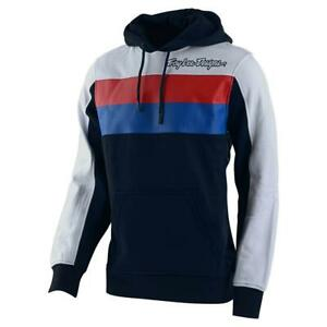Troy Lee Designs 2020 Block Signature Pullover Hoodie Navy/White All Sizes