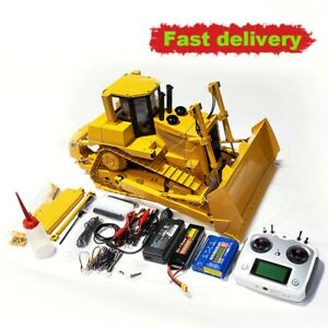 1/14 All-metal Remote Control 9ch Hydraulic D9T Bulldozer Rc Wheel Loader Toy