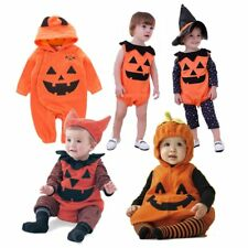 Baby Boy Girl Halloween Pumpkin Costumes Fancy Dress Party Outfit Cloth Cosplay