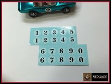 1970 Hot Wheels Redline 'Spoiler Numbers' Reproduction Decal 9001