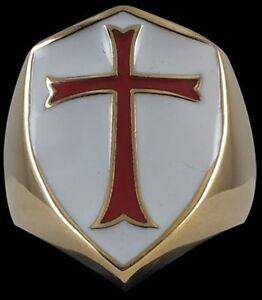 Bronze Crusader Cross Knights Templar Ring Custom size medieval handmade R-210B